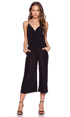 Amanda Uprichard Geneva Crop Jumpsuit in Black