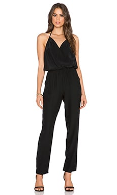 Amanda Uprichard Halter Jumpsuit in Black