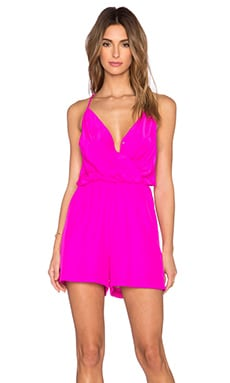 Amanda Uprichard Chelsea Romper in Hot Pink Light