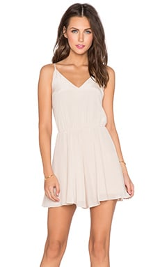 Amanda Uprichard Circle Short Romper in Bone