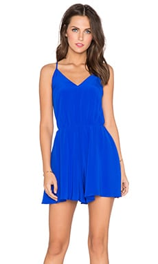 Amanda Uprichard Circle Short Romper in Royal
