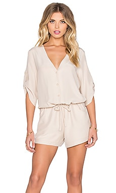 Amanda Uprichard Remy Romper in Bone