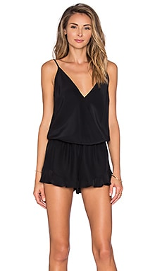 Amanda Uprichard Alyssa Romper in Black