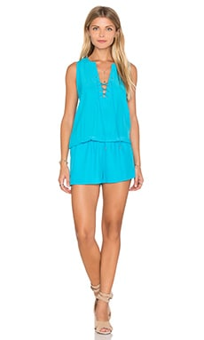 Michaela Romper in Aqua