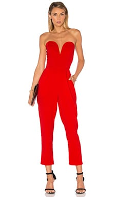 Amanda Uprichard Cherri Jumpsuit in Candy Apple