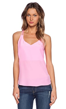 Amanda Uprichard Multi Strap Tank in Shocking Pink