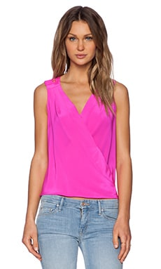 Amanda Uprichard Thalia Top in Hot Pink