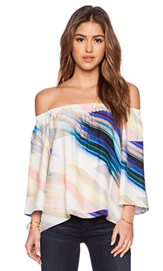 Amanda Uprichard Nirvana Top in Whisper Print