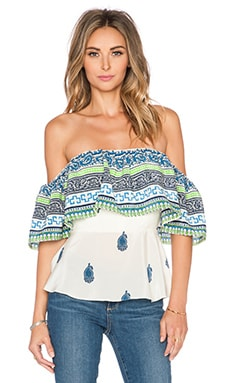 Amanda Uprichard Delilah Top in Blue