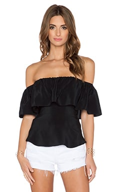 Amanda Uprichard Delilah Top in Black