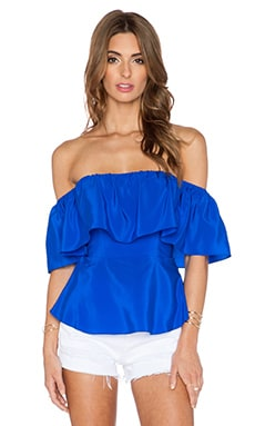 Amanda Uprichard Delilah Top in Royal