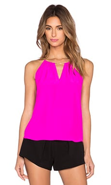 Amanda Uprichard Chain Top in Hot Pink Light