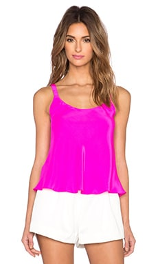 Amanda Uprichard Ava Tank in Hot Pink Light