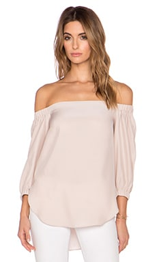 Amanda Uprichard Dakota Top in Bone