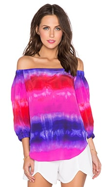 Amanda Uprichard Dakota Top in Gypsy Print