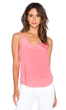 Amanda Uprichard Double Tie Cami in Fluro Pink