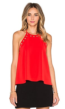 Amanda Uprichard Montauk Top in Candy Apple