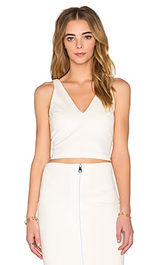Amanda Uprichard Ponte Crop Top in Ivory