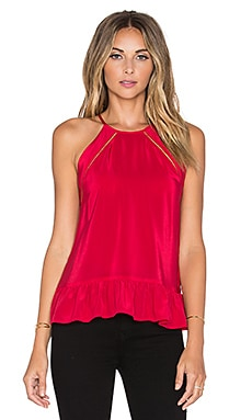 Amanda Uprichard Shalyn Tank in Cardinal