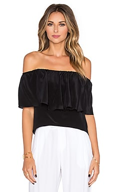 Amanda Uprichard Kiara Top in Black
