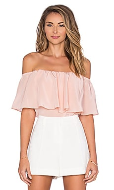 Kiara Off the Shoulder Top en Rose Poudré