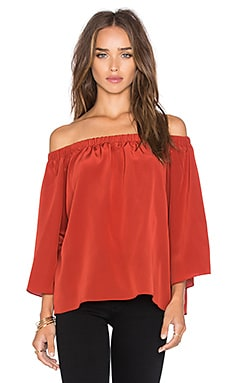 Amanda Uprichard Nirvana Off the Shoulder Top in Rust