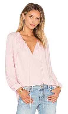 Amanda Uprichard Alessia Blouse in Dusty Rose