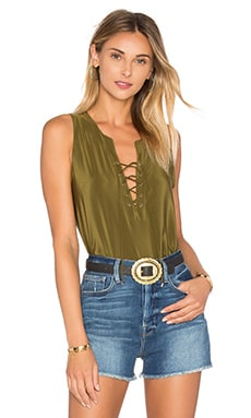 Amanda Uprichard Michaela Tank in Olive
