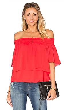 Amanda Uprichard Cleo Top in Candy Apple