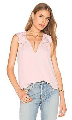 Amanda Uprichard Belle Tank in Dusty Rose