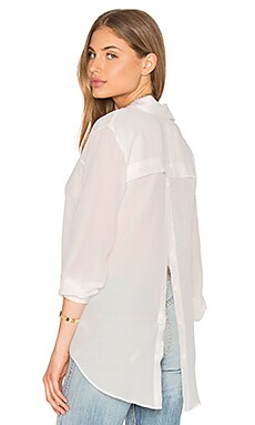 Amanda Uprichard Liv Button Up in Ivory