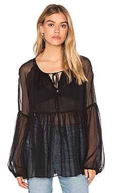 Amanda Uprichard Genevieve Blouse in Black