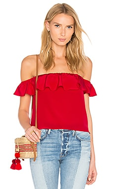 Sleeveless Joanna Top in Lipstick