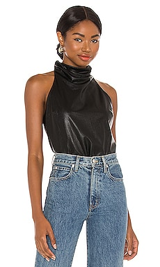 Sandrine Leather Top Amanda Uprichard $172 NEW