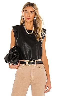 X REVOLVE Kent Leather Top Amanda Uprichard $167