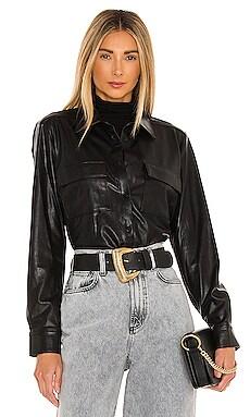 X REVOLVE Fritzi Leather Top Amanda Uprichard $113