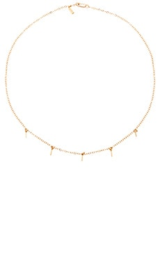 5 Bar Drop Necklace in Gold