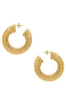 Купить Серьги caleb - Amber Sceats, Золотой, Италия, Металлический золотой