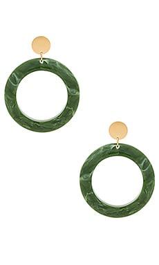 Фото - Серьги cairo - Amber Sceats зеленого цвета