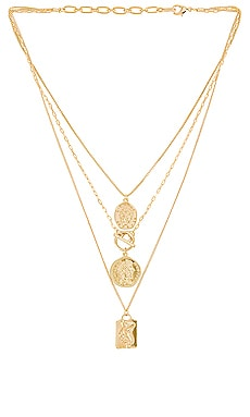 Layered Coin Necklace Amber Sceats $69