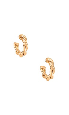 Twist Hoop Earring Amber Sceats $49