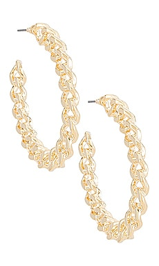 Chain Hoop Earring Amber Sceats $55 BEST SELLER