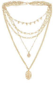 Layered Coin Necklace Amber Sceats $68