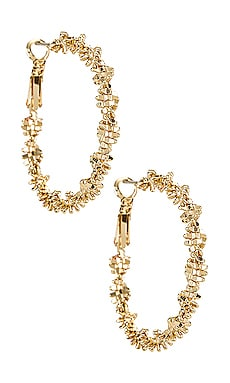 Textured Hoop Earrings Amber Sceats $52