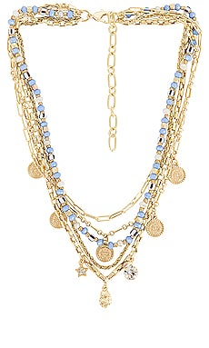 Layered Embellished Necklace Amber Sceats $75