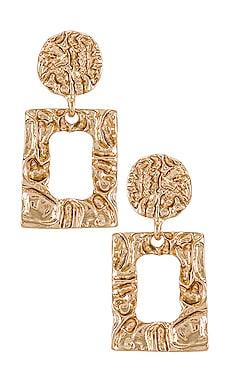 Square Drop Earrings Amber Sceats $55