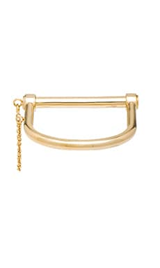 Amber Sceats Lock Bangle in Gold