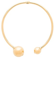 Amber Sceats Double Ball Necklace in Gold