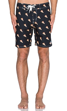 Ambsn Pam & Cheese Boardshort in Black