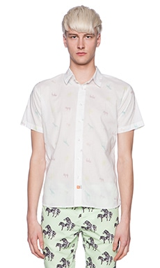 Ambsn Zoo Button Down in White